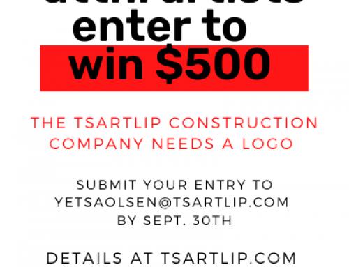 Enter to win $500 – Tsartlip Construction LP –  Logo Contest